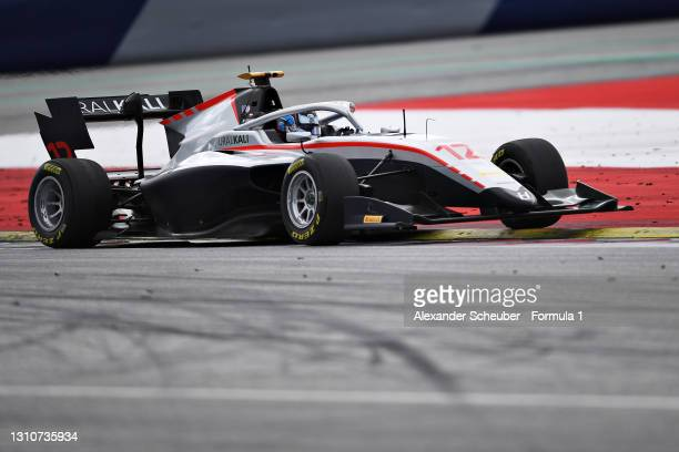 Roman Stanek of Czech Republic and Hitech Grand Prix drives during Day Two of Formula 3 Testing at Red Bull Ring on April 04, 2021 in Spielberg,...