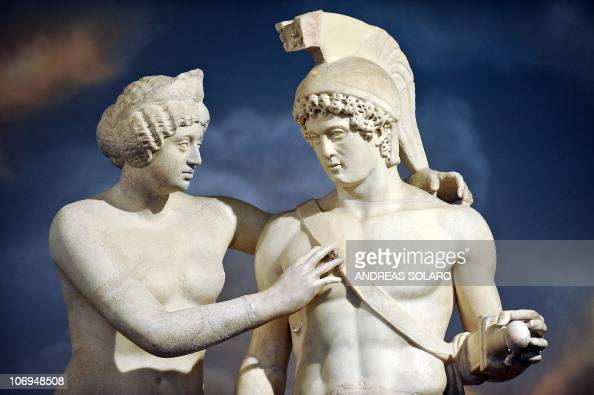 A Roman statue of Venus and Mars is displayed at Prime ...
