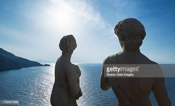 Roman statues on the Infinity Terrace