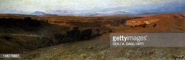Roman sunset by Onorato Carlandi , oil on canvas, 100x300 cm. ; Rome, Galleria Nazionale D'Arte Moderna .