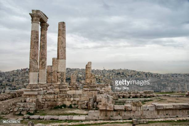 Roman temple of Hercules in the Amman Citadel in Jordan