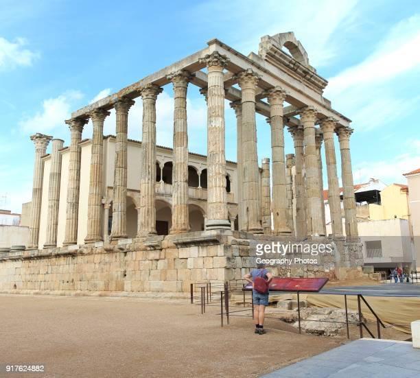 Roman Templo de Diana Temple of Diana Merida Extremadura Spain