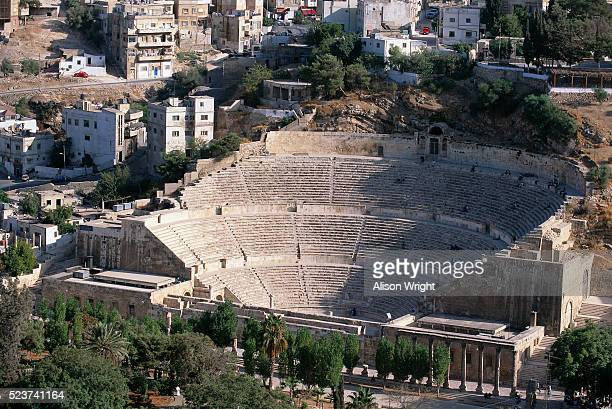 roman theater at amman - alison roman stock pictures, royalty-free photos & images