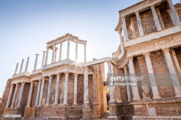 roman theater of merida - extremadura stock pictures, royalty-free photos & images