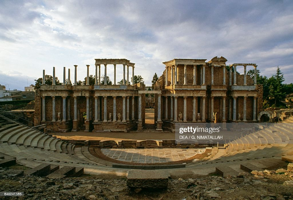 Roman theatre, Merida, Extremadura : News Photo