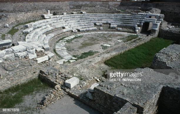 Roman theatre Albintimilium archaeological site Ventimiglia Liguria Italy Roman civilisation 2nd3rd century