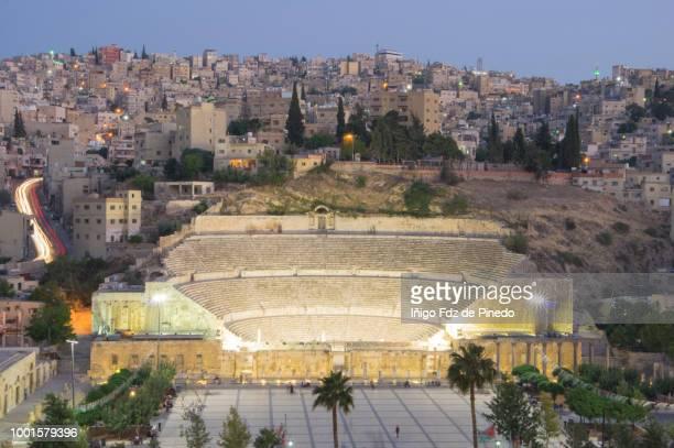 Roman Theatre at night , Amman, Jordan.