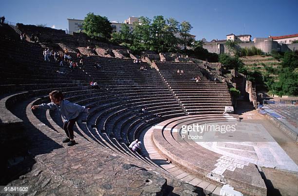 Roman theatre, Fourviere, Lyon, Rhone-Alpes, France