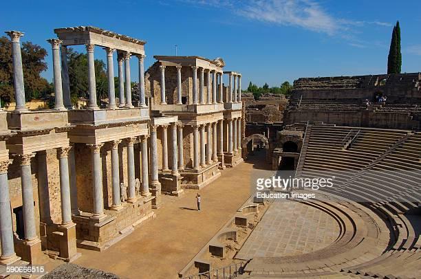 Roman theatre Merida Badajoz province Extremadura Spain