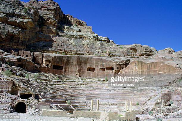 Roman theatre Petra Jordan Petra was the capital of the Nabataean kingdom from 312 BC until it was absorbed into the Roman Empire in 106 AD The...