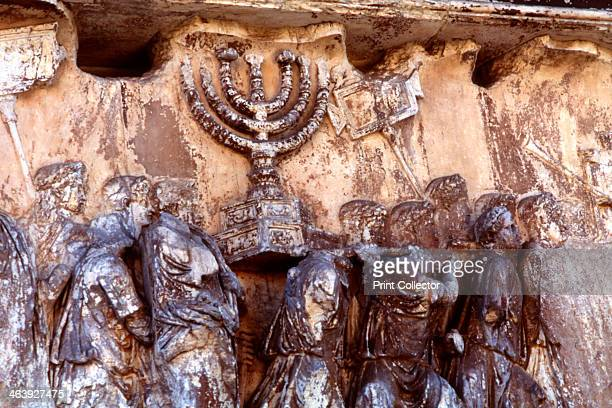 Roman troops carrying away the Menorah from the Temple at Jerusalem 70 Roman forces commanded by Titus captured and destroyed Jerusalem in 70 during...