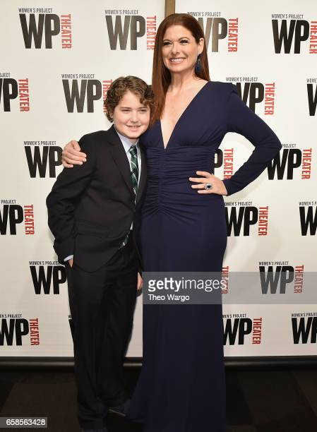 Roman Walker Zelman and mother Debra Messing attend WP Theater's 32nd Annual Gala at The Edison Ballroom on March 27 2017 in New York City