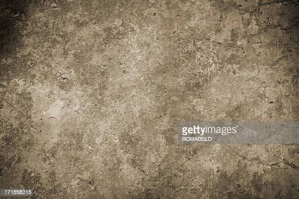 Roman wall background in sepia, Rome Italy