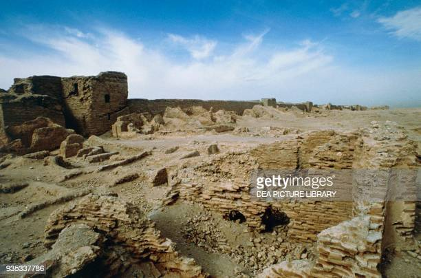 Roman walls Dura Europos Mesopotamian city on the right bank of the Euphrates Syria