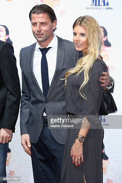 Roman Weidenfeller and Lisa Rossenbach attend the 'Mamma Mia' Musical Premiere at the Stage Metronom Theater on March 5 2015 in Oberhausen Germany
