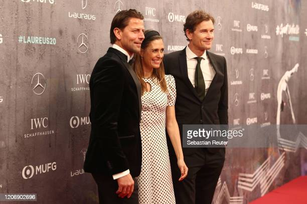 Roman Weidenfeller, Conny Lehmann and Jens Lehmann attend the 2020 Laureus World Sports Awards at Verti Music Hall on February 17, 2020 in Berlin,...