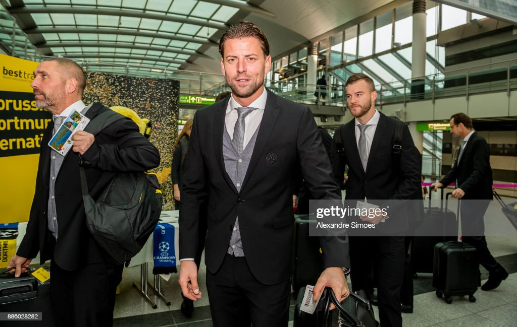 Roman Weidenfeller of Borussia Dortmund at the airport before flying to Madrid for the UEFA Champions League match between Real Madrid and Borussia Dortmund on December 05, 2017 in Dortmund, Germany.