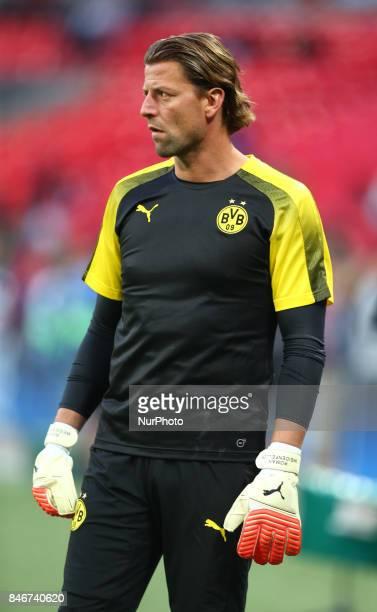 Roman Weidenfeller of Borussia Dortmund during the prematch warmup during Champion League Group H match between Tottenham Hotspur against Borussia...