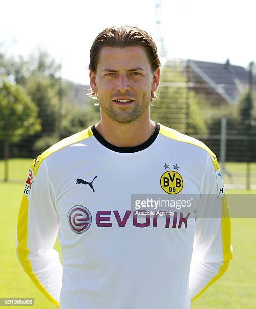 Roman Weidenfeller of German Bundesliga first division soccer club Borussia Dortmund is pictured during the photocall for the upcoming 2016/17 season...