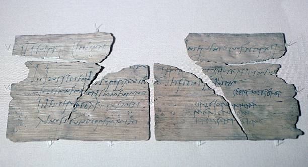 Roman wood writing tablet from vindolanda with a party invitation roman wood writing tablet from vindolanda with a party invitation written in ink from claudia stopboris Images