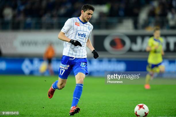 Roman Yaremchuck forward of KAA Gent is running with the ball during the Jupiler Pro League match between KAA Gent and Sint Truidense VV at the...