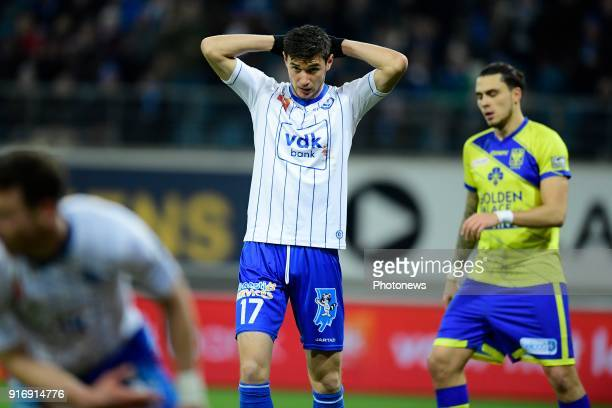 Roman Yaremchuck forward of KAA Gents looks dejected after missing an opportunity during the Jupiler Pro League match between KAA Gent and Sint...