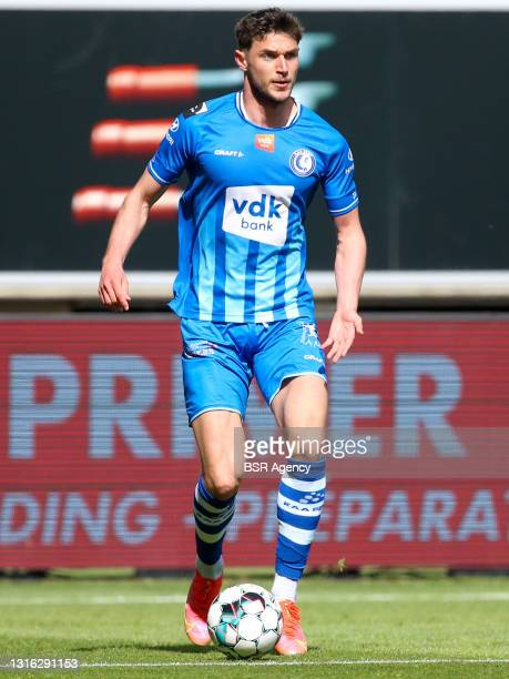 Roman Yaremchuk of KAA Gent during the Jupiler Pro League Europa League Play-Offs match between KAA Ghent and KV Mechelen at Ghelamco Arena on May 2,...