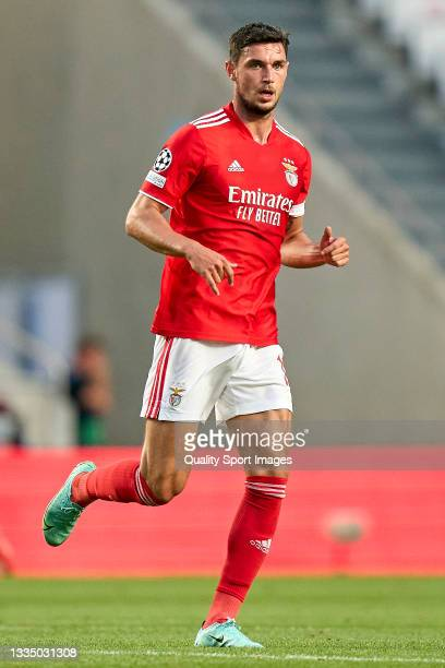 Roman Yaremchuk of SL Benfica looks on during the UEFA Champions League Play-Offs Leg One match between SL Benfica and PSV Eindhoven at Estadio da...