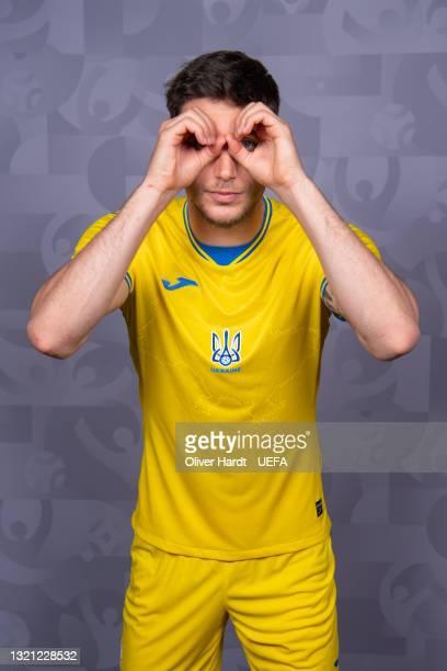Roman Yaremchuk of Ukraine poses during the official UEFA Euro 2020 media access day on May 31, 2021 in Kharkov, Ukraine.