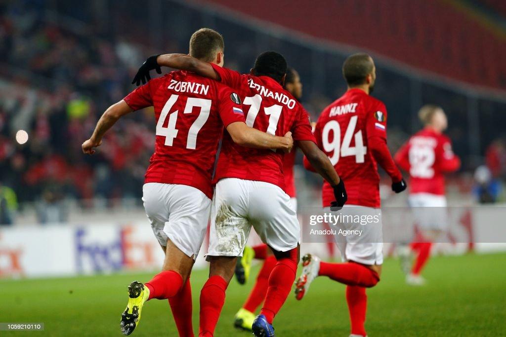 Spartak Moscow vs Rangers - UEFA Europa League : News Photo