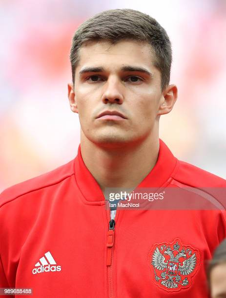 Roman Zobnin of Russia is seen during the 2018 FIFA World Cup Russia Round of 16 match between Spain and Russia at Luzhniki Stadium on July 1 2018 in...