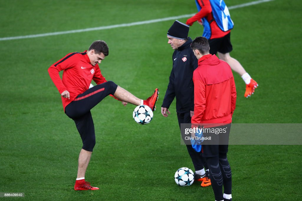Spartak Moskva Training and Press Conference