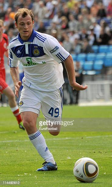 Roman Zozulya of FC Dynamo in action during the Ukrainian Premier League match between Dynamo Kyiv and Volyn on May 15 2011 in Kiev Ukraine