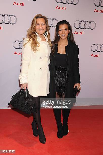 Romana Hinterseer and her daughter Jessica attend the Audi Night at Hotel 'Zur Tenne' on January 22 2010 in Kitzbuehel Austria