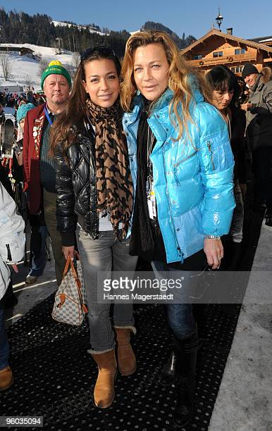 Romana Hinterseer and her daughterJessica attend the Kitzbuehel Charity Race on January 23 2010 in Kitzbuehel Austria