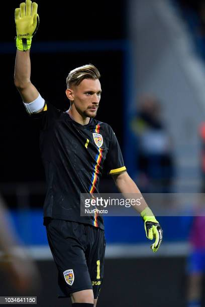Romana's U21 Ionut Radu in action during European Under-21 Championship 2019, Qualifying Round between Romania U21 and Bosnia and Herzegovina U21 at...