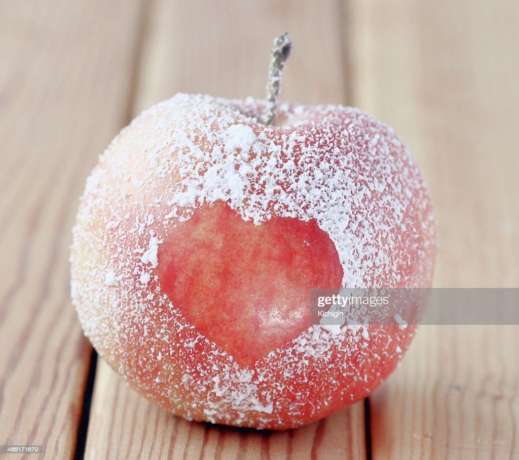 Romance Apple Heart Symbol Stock Photo Getty Images