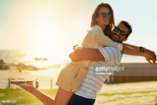 romance comes alive in summer - peopleimages stock pictures, royalty-free photos & images