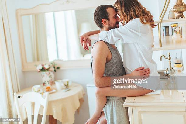 romance for breakfast - preparation stock pictures, royalty-free photos & images