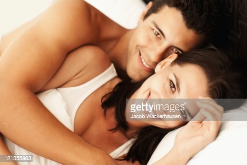 . Romance In Bed Stock Photo   Getty Images