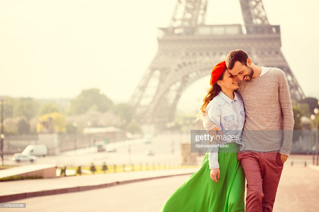 Romance in Paris : Stock Photo