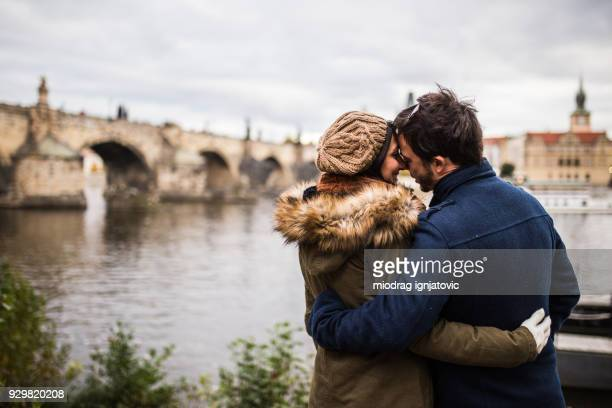 romance em praga - atividade romântica - fotografias e filmes do acervo