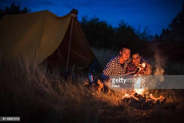 Romance on camping