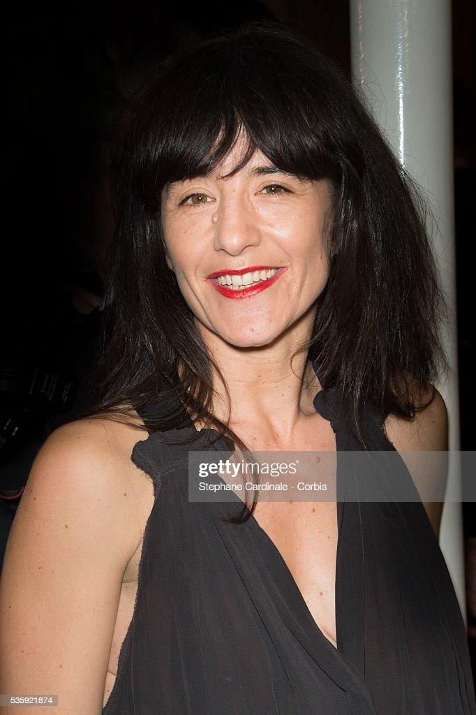 Romane Bohringer attends the Sidaction Gala Dinner at Pavillon d'Armenonville, in Paris.