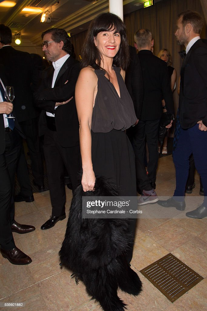 Romane Bohringer attends the Sidaction Gala Dinner at Pavillon d'Armenonville, in Paris.