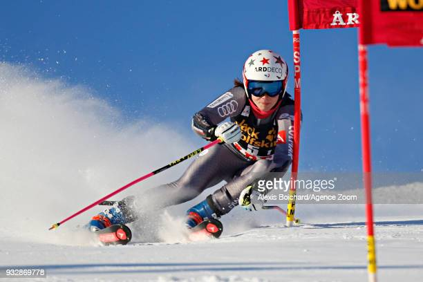 Romane Miradoli of France competes during the Audi FIS Alpine Ski World Cup Finals Men's and Women's Team Event on March 16 2018 in Are Sweden