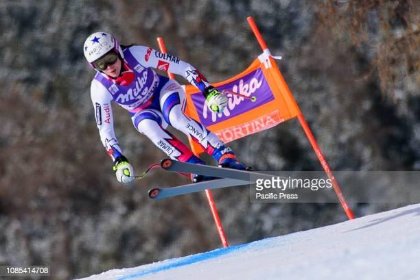 AMPEZZO ITALY CORTINA D'AMPEZZO DOLOMITES ITALY Romane Miradoli of France in action during the Audi FIS Alpine Ski World Cup Women's Downhill