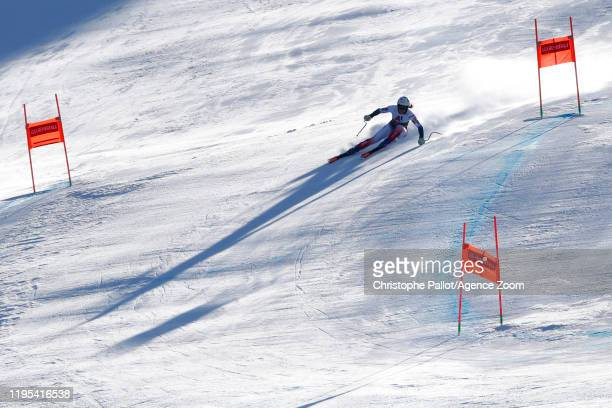 Romane Miradoli of France in action during the Audi FIS Alpine Ski World Cup Women's Downhill Training on January 23 2020 in Bansko Bulgaria