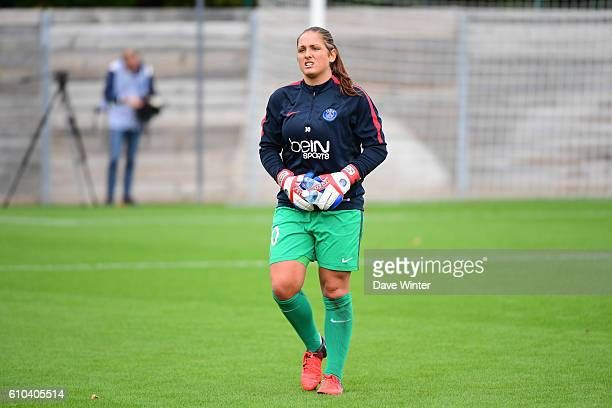 Romane Salvador of PSG during the women's French D1 league match between PSG and Olympique de Marseille at Camp des Loges on September 25 2016 in...