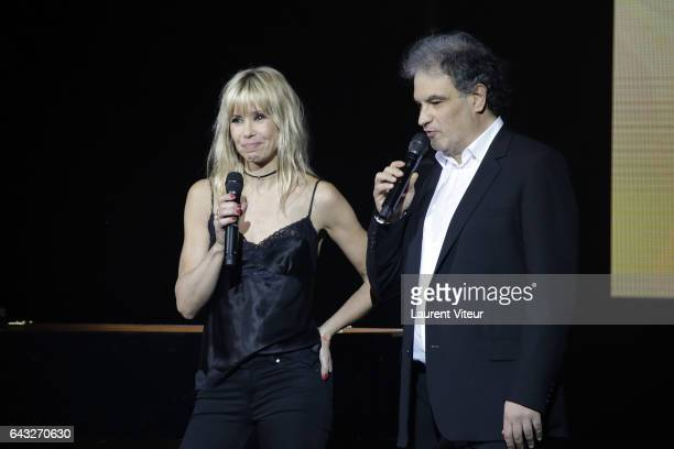 Romane Serda and Raphael Mezrahi perform during 'La Nuit De La Deprime 2017' at Folies Bergeres on February 20 2017 in Paris France